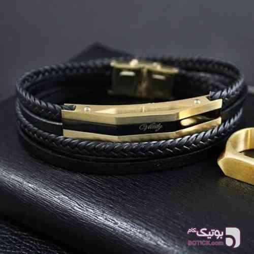 دستبند چرم Vitaly مدل Tony مشکی دستبند و پابند