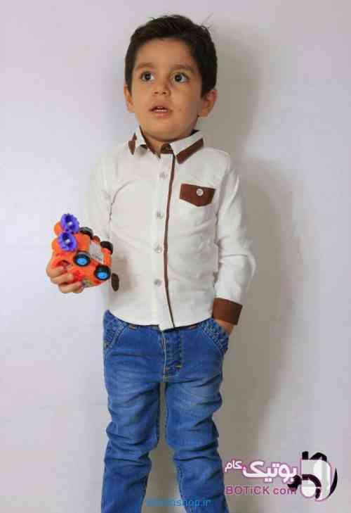 شلوار لی بچگانه آبی لباس کودک پسرانه