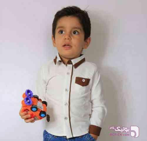 شومیز بچگانه سفید لباس کودک پسرانه