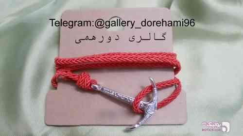 دستبند پشت ساعتی مدل لنگر قرمز دستبند و پابند