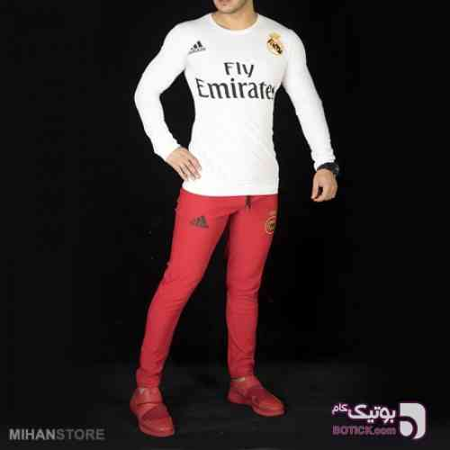 ست تی شرت و شلوار Real Madrid سفید لباس راحتی مردانه