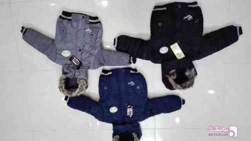 کاپشن پسرانه مشکی لباس کودک پسرانه