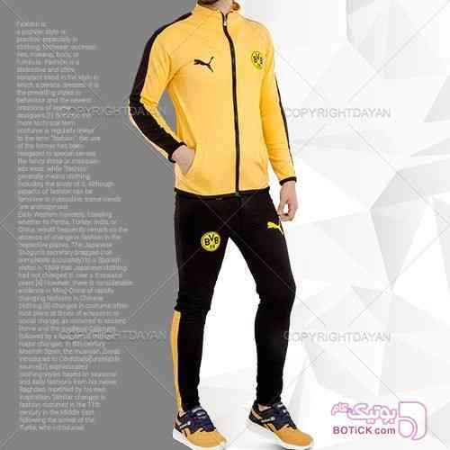 ست سویشرت و شلوار B.Dortmund زرد ست ورزشی مردانه