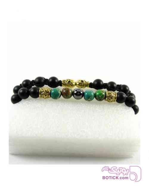 پکیج دوتایی دستبند مهره ای سبز دستبند و پابند