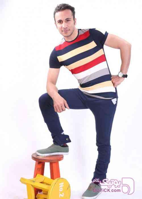 تیشرت رینگر ریز  آبی تی شرت مردانه