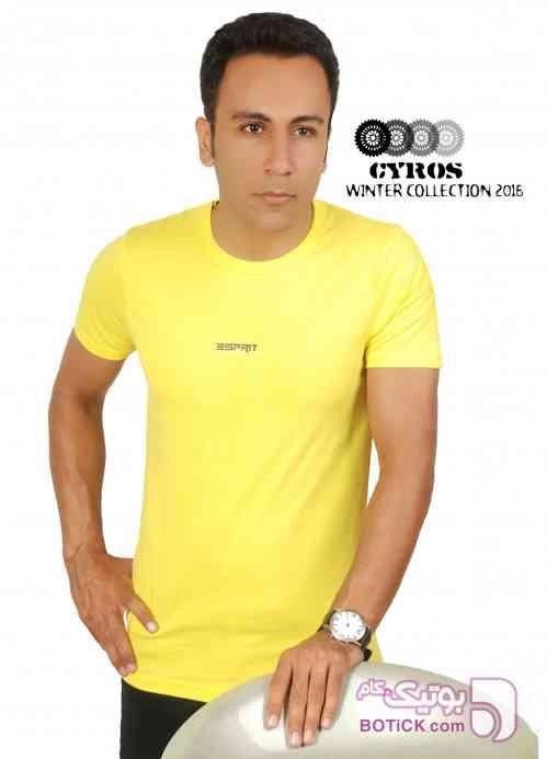 تیشرت  زرد تی شرت مردانه