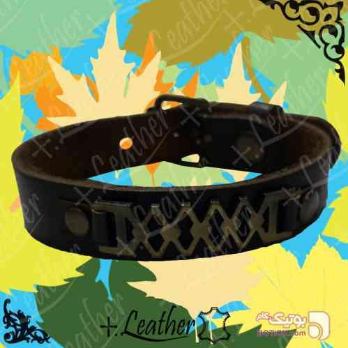 دستبند چرم اصل برند PLUS.LEATHER قهوه ای دستبند و پابند