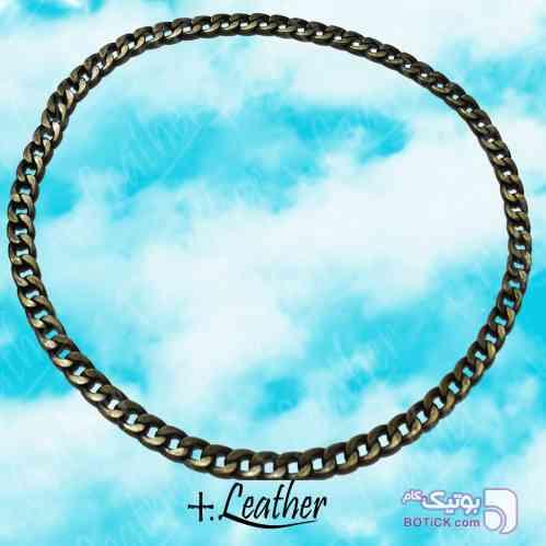 زنجیر گردنی.برند PLUS.LEATHER طلایی دستبند و پابند