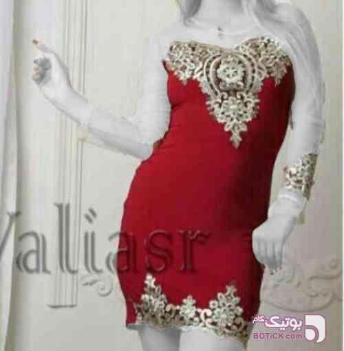 پیراهن مجلسی مدل سلطان قرمز لباس  مجلسی