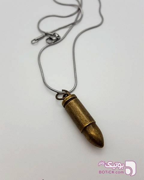 آویز مردانه طرح گلوله قهوه ای گردنبند