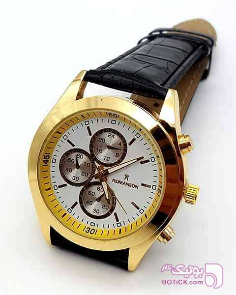 ساعت رومانسون ROMANSON مردانه (طرح سه موتوره) زرد ساعت