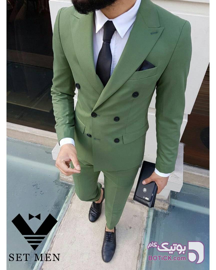 کت شلوار سبز كت و شلوار