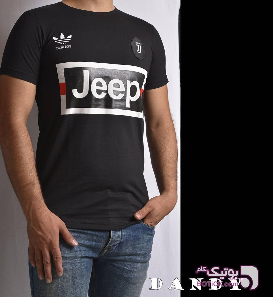 تیشرت تیم استین کوتاه  مشکی تی شرت مردانه