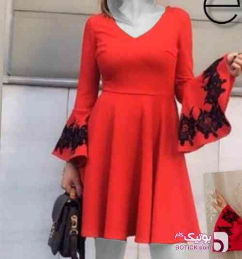 پیراهن مجلسی ترک  قرمز لباس  مجلسی