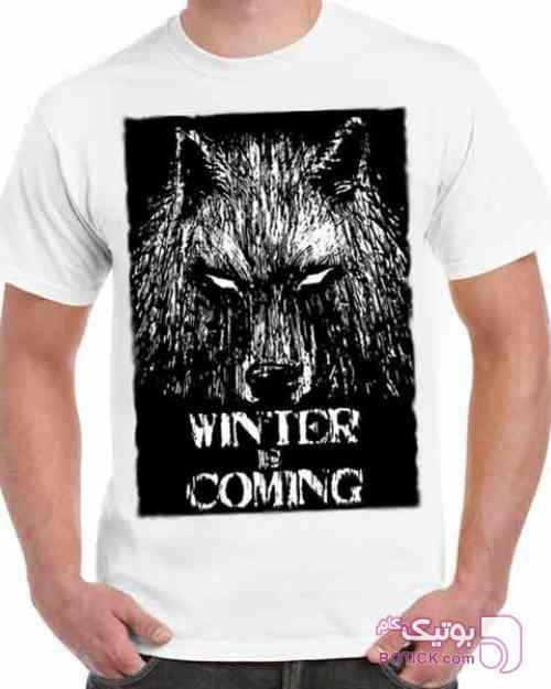 تی شرت مردانه WINTER IS COMING سایز m-l-xl مشکی تی شرت مردانه