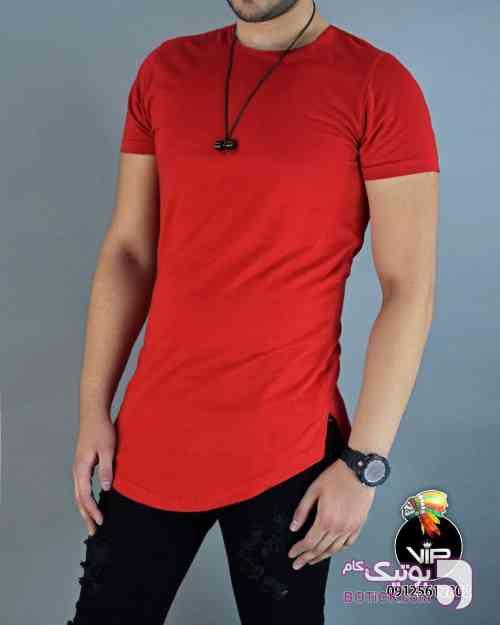 تیشرت قرمز تی شرت مردانه