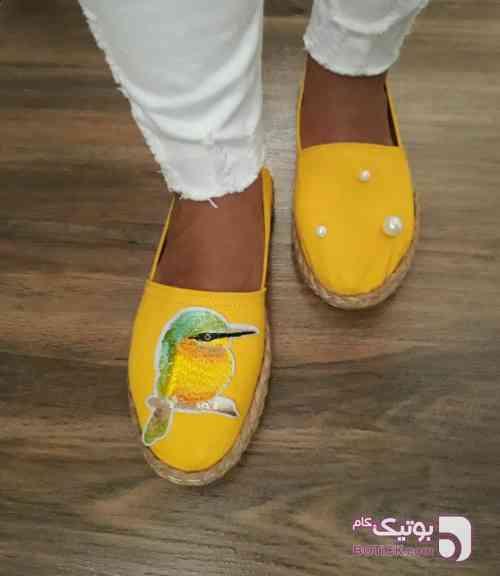 گیوه زرد كفش زنانه