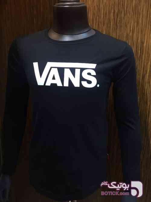 تى شرت آستين بلند مشکی تی شرت مردانه