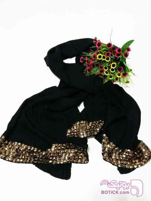 شال مشکی نخی مشکی شال و روسری