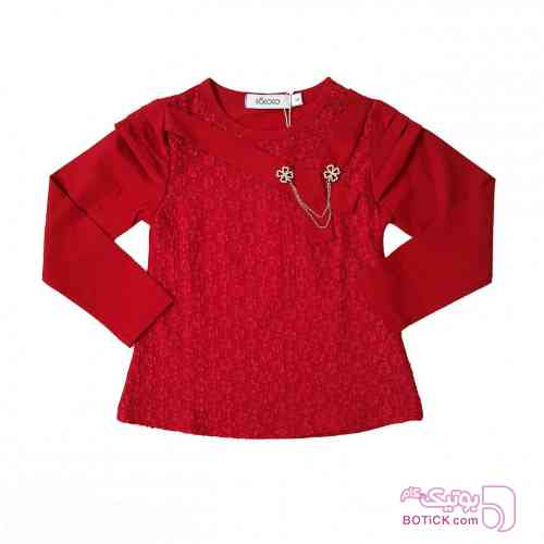 بلوز  دخترانه قرمز لباس کودک دخترانه