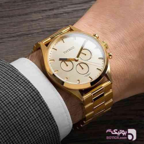 ساعت مچی برند انگلیسی tayroc طلایی ساعت