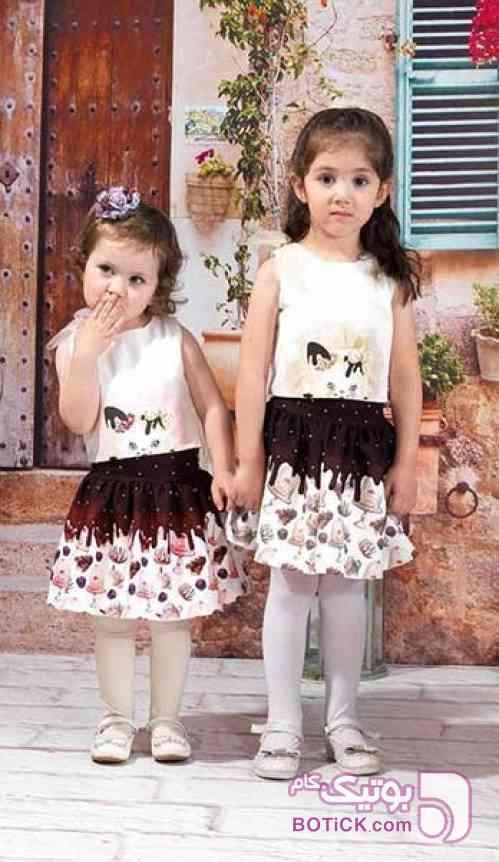 ست گربه ای دخترانه قهوه ای لباس کودک دخترانه