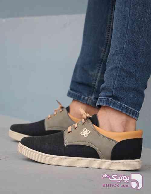 کفش مردانه مدل BON مشکی كتانی مردانه