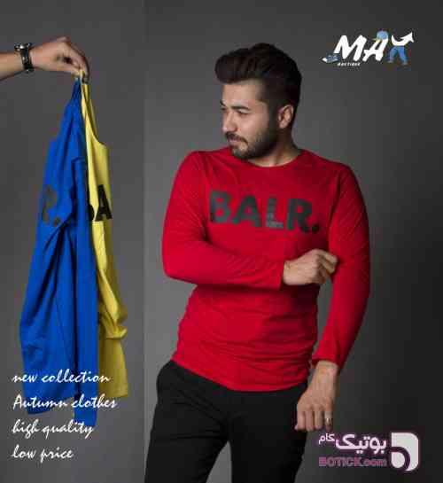 تیشرت استین بلند مردانه زرد تی شرت مردانه
