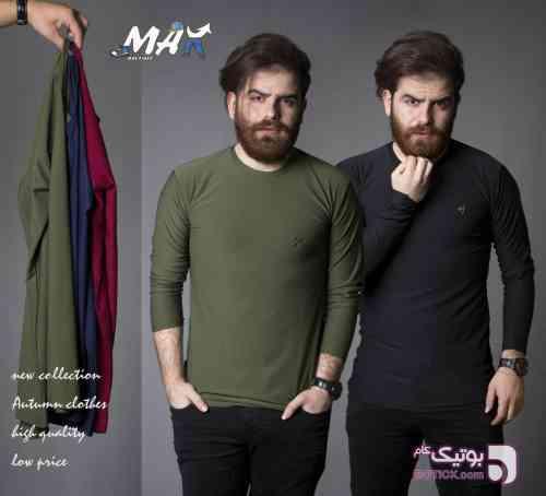 تیشرت استین بلند مردانه سبز تی شرت مردانه