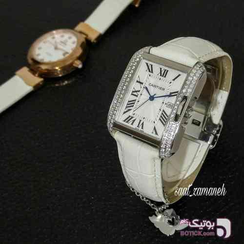 Cartier tank زنانه سفید ساعت