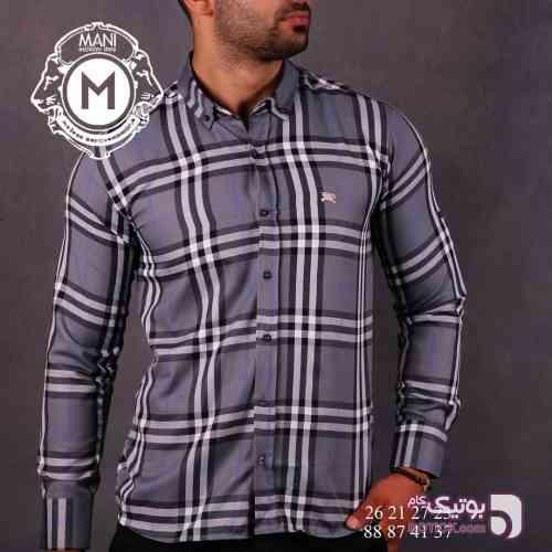 پیراهن مردانه  BURBURRY طوسی پيراهن مردانه