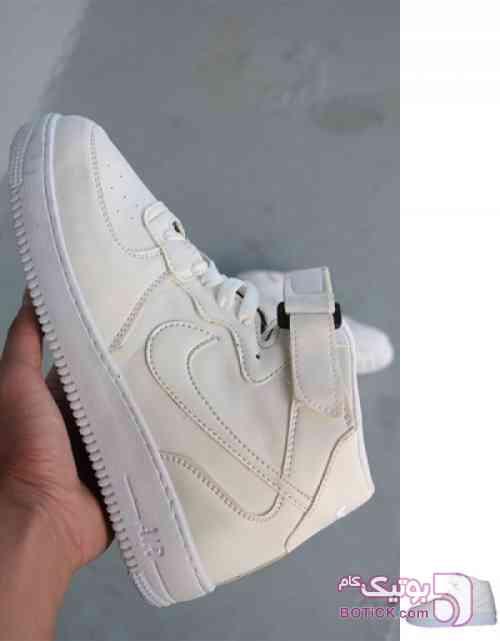 کفش کتانی ساقدار نایک مدلAirForcet سفید كتانی مردانه
