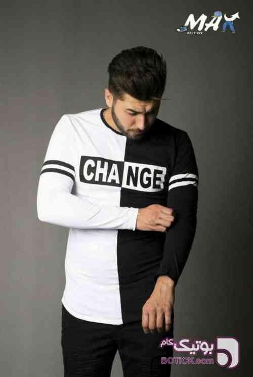 تی شرت مردانه CHANGE مشکی تی شرت مردانه