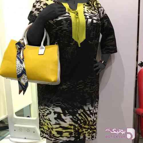 پيراهن مجلسي ترك زرد لباس  مجلسی