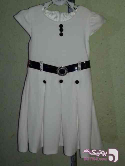 سارافون  سفید لباس کودک دخترانه