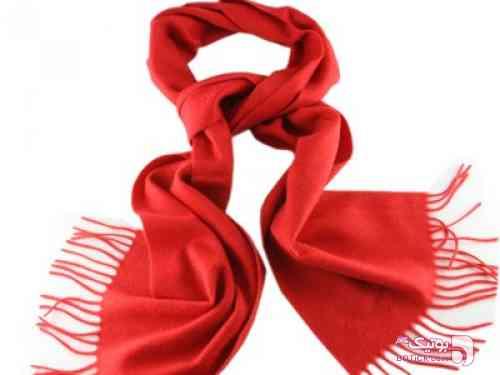 شال نخي  قرمز شال و روسری