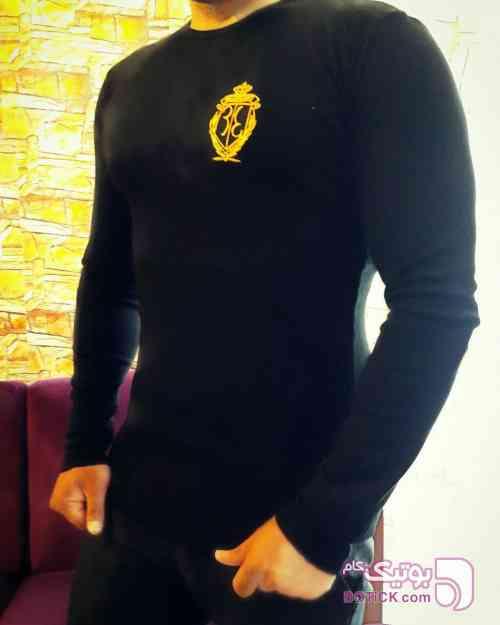 تیشرت استین بلند فانریپ  مشکی تی شرت مردانه