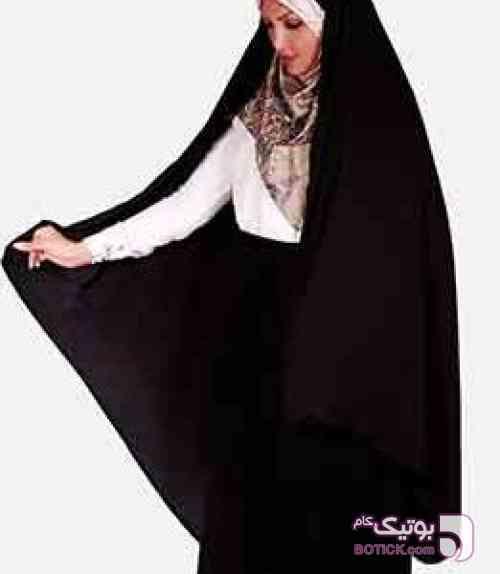 چادر قجری کمری کرپ ابریشم  مشکی چادر و مقنعه
