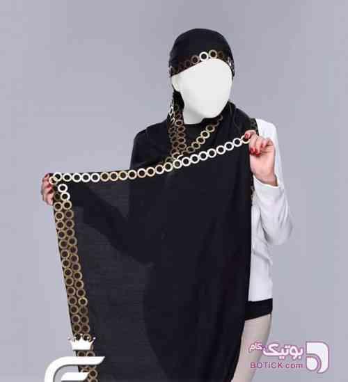 شال هندی کد 3 مشکی شال و روسری