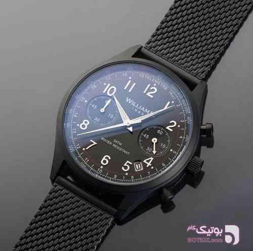ساعت مچی برند فرانسوی William L مشکی ساعت