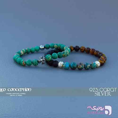 دستبند سنگي سبز دستبند و پابند
