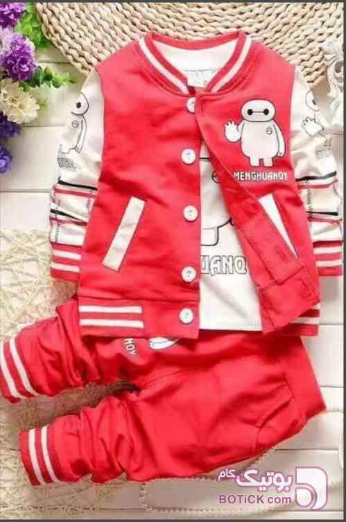 سویشرت آستین دار و شلوار قرمز لباس کودک پسرانه