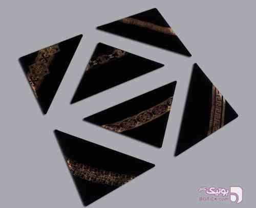 روسری دور طلایی مشکی شال و روسری