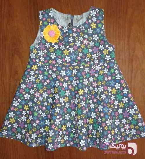 سارافون آستردار پاییزه زرشکی لباس کودک دخترانه