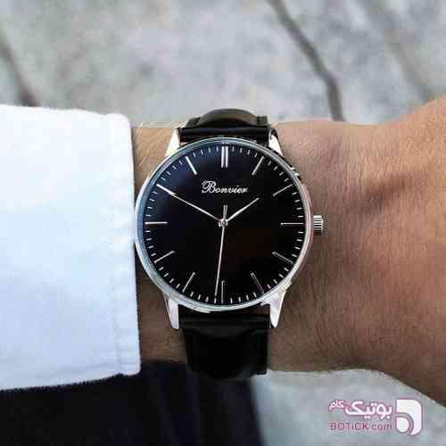 ساعت مچی برند ایتالیایی bonvier مشکی ساعت