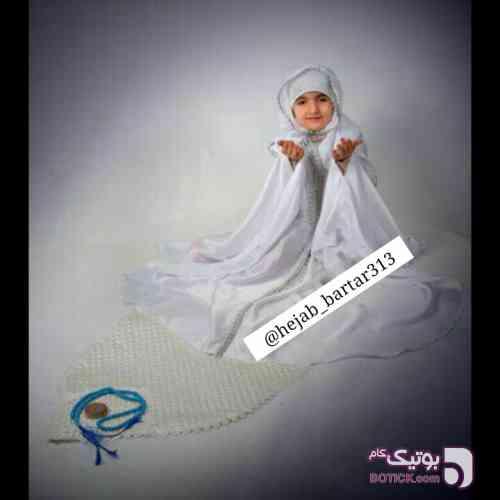 چادر مروارید دخترانه زرد لباس کودک دخترانه