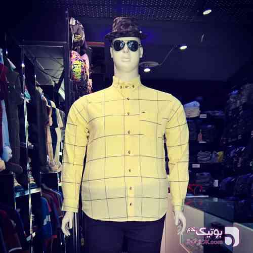پیراهن سوپرسایز  زرد سایز بزرگ مردانه