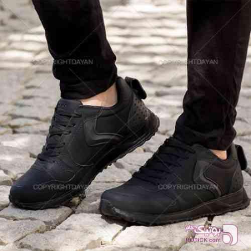 کتانی مردانه اکو مشکی مشکی کفش ورزشی
