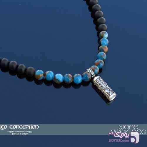 گردنبند سنگ / آویز نقره 925 عیار (SN01) سبز گردنبند