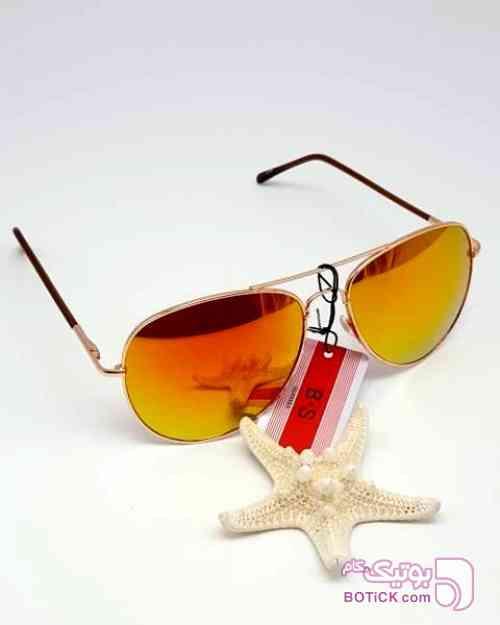 B.S GLASSED لنز گلد رفلکس نارنجی عینک آفتابی